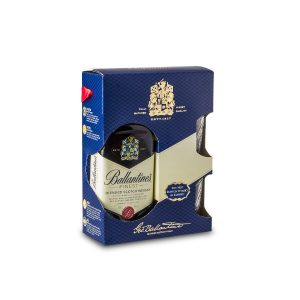 Ballantine's Finest + 2 glass
