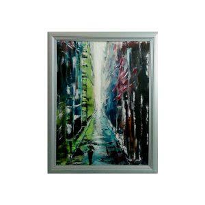 Уметничка слика: Rain street