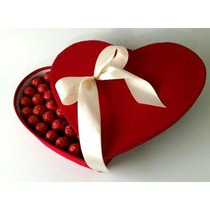 Плишано чоколадно срце
