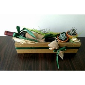 Дрвена кутија со вино 1