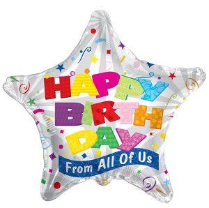 Фолија балон Happy Birthday 01